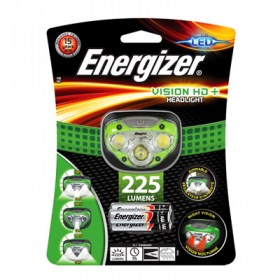 Energizer Vision HD+ headlight with 3x AAA batteries torch 225 lumens